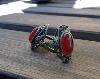 Vintage Agate Bronze Ring *Lowered price*