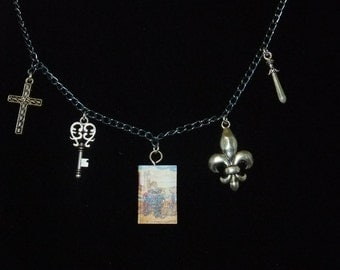 Three Musketeers Book Necklace