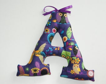 """Customized name banner. Fabric Wall Letters. Big Letters 7,1"""". Name of Child, Name Banner. Nursery decor. Made to order"""