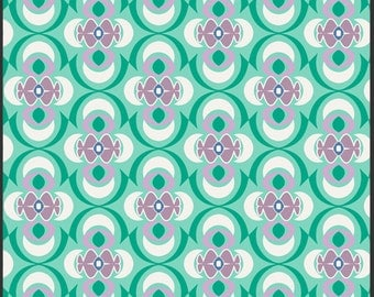 Art Gallery Fabrics, Dancinig the Waltz Seafoam Fabric 1 Yard