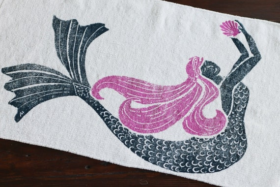 Items Similar To Bath Rug Bath Mat Mermaid Pink Hair