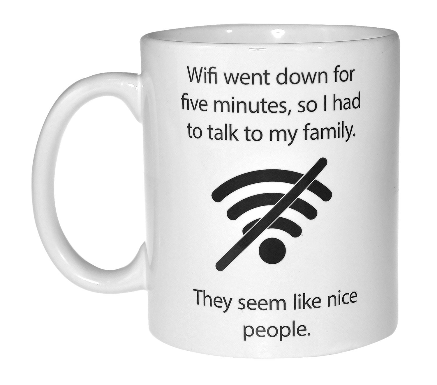 Wifi quote funny coffee or tea mug by NeuronsNotIncluded ...