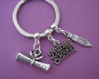 Nurse Graduation Gift Nurses Keyring Nursing Keychain Whimsical Gift