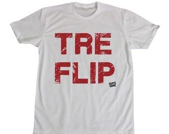 Skateboarder T-shirt - Tre Flip skateboard