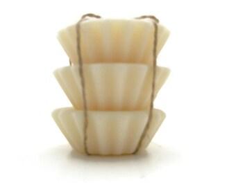 Scented Soy Tart Melts - 3 Vanilla, Dye Free, Wedding, Housewarming, Birthday, Shower Favor, Gift Under 10