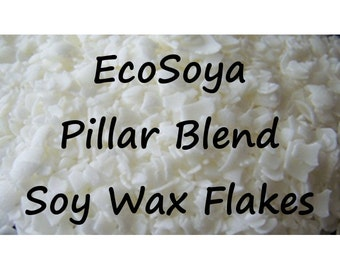 1 lb, Soy Wax Flakes, EcoSoya Pillar Blend PB, All Natural, Craft Supplies for Candle Making