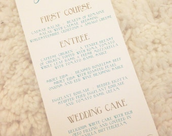 150 Eat Drink and Be Married Wedding Menu Cards