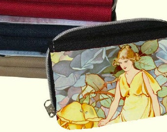 Canvas  Women's Purse, Wallet - Vintage Rose Fairies 1
