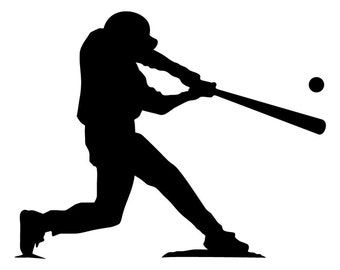 "Baseball Player at Bat little league batter 5"" Vinyl Decal Window Sticker for Car, Truck, Motorcycle, Laptop, Ipad, Window, Wall, ETC"