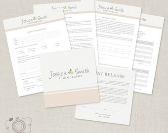 Basic Photography Business Forms - Model Release, Print Release, - C145, INSTANT DOWNLOAD