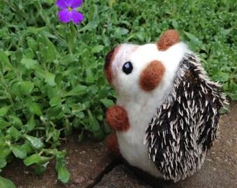 Needle Felted Hedgehog Handmade