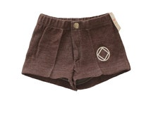 FRENCH vintage 70's / kids / pair of shorts / brown colour / acrylic jersey  / new old stock / size 3 years