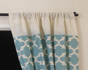 "82"" - 98"" blue curtain - Window treatments/Spring Celebrations/For her/Home and Living/More/Trending  Items/Modern drapes/Panels"