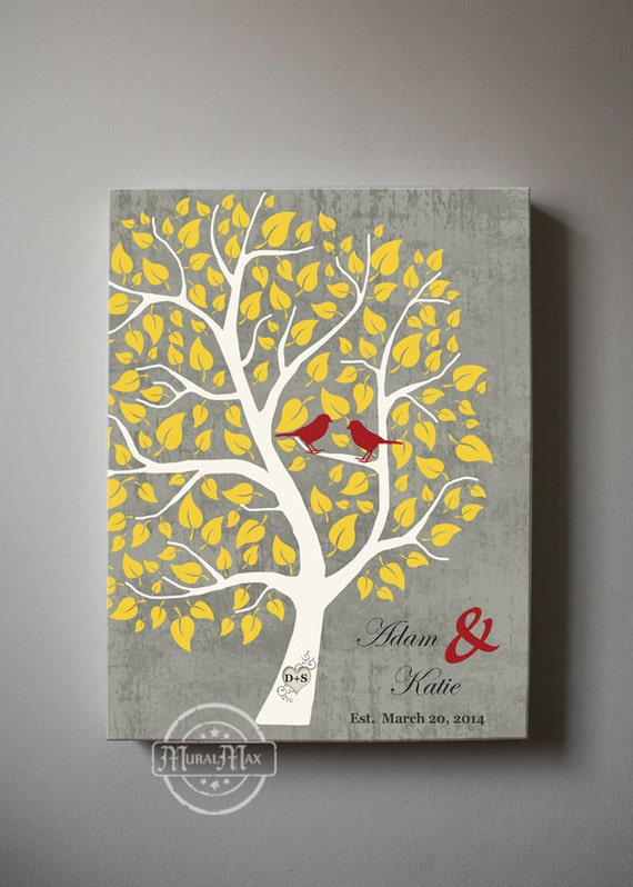 couples wedding tree canvas wall art personalized with names. Black Bedroom Furniture Sets. Home Design Ideas