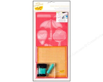 American Crafts Amy Tangerine Plus One Teammate Icons Embroidery Stencil Kit