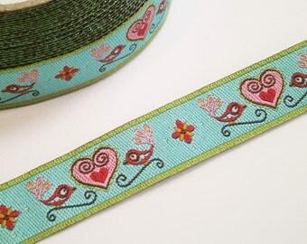 """Woven Ribbon """"little birds"""" 12 mm Design luzia pimpinella"""