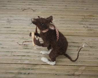 needle felted rat...called sox
