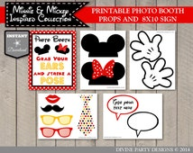 INSTANT DOWNLOAD Girl and Boy Mouse Printable Photo Booth Props / Editable Text Bubbles / Girl & Boy Mouse Collection / Item #2114