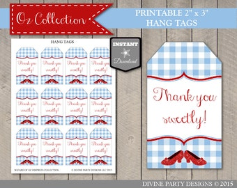 INSTANT DOWNLOAD Wizard of Oz Inspired Thank You Hang Tags / Thank You Sweetly / Printable DIY / Oz Collection / Item #104