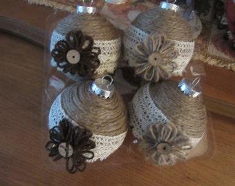 Ornaments, Christmas Ornaments, Holiday Ornaments, Shabby Ornaments, Shabby Christmas,