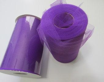 Purple Tulle Fabric 100 Yards