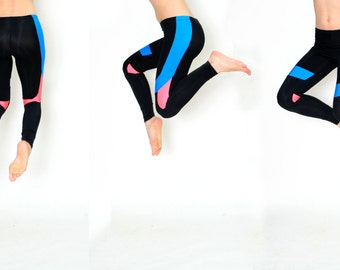 Holster Leggings Pink and Blue