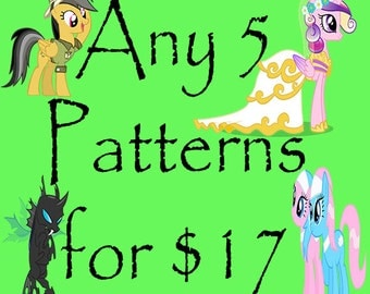 35% OFF ANY 5 CROCHET Patterns
