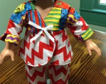 """18"""" doll clothes, American girl, top and capris, free shipping"""