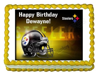 Steelers Football team party decoration edible cake image cake topper  frosting sheet