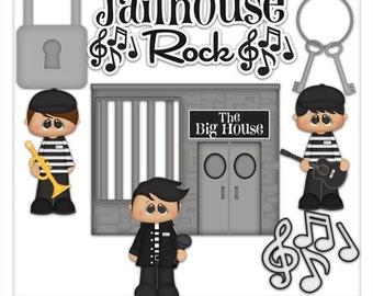 DIGITAL SCRAPBOOKING CLIPART - Jailhouse Rock