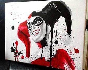 Harley Quinn - Framed Canvas Art