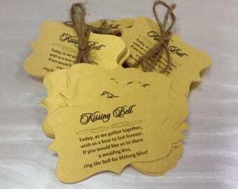 Kissing Bell tags - Wedding Bell Tags Wedding Favors