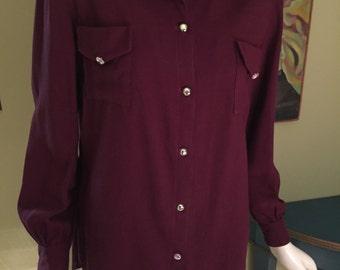 Vintage 50s Gabardine Rockabilly Shirt