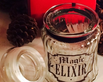Special Sale 1/2 off on Orig price of 10 Sale Magic Elixir Jar Witch Supply Altar Magick Goth Mojo voodoo hoodoo Apothecary Wiccan pagan