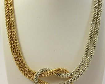 Love Knot Infinity Beaded Necklace