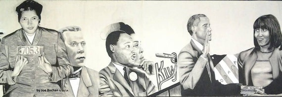 Items similar to black history mural part 3 on etsy for Black history mural