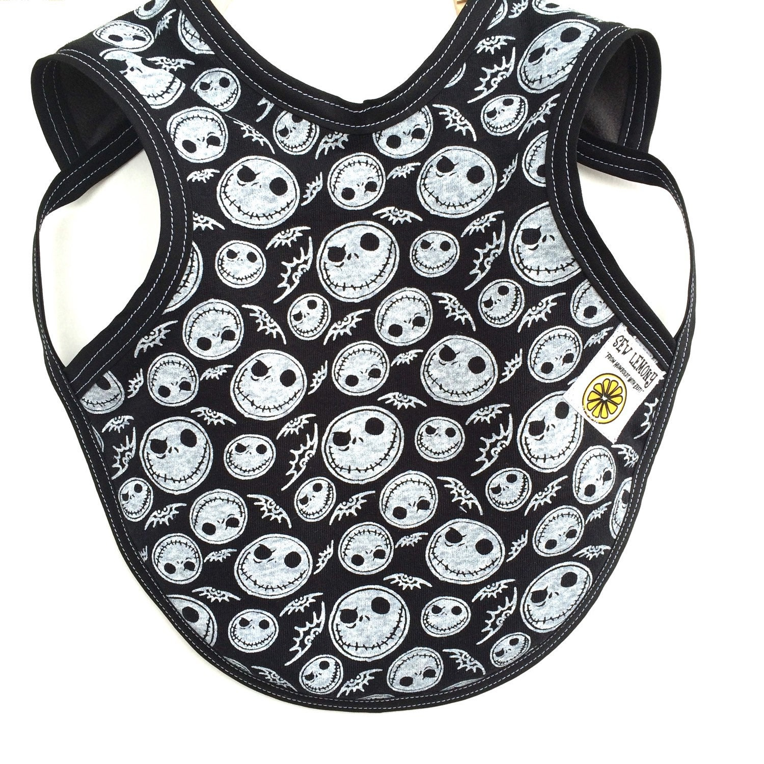 nightmare before baby clothes baby boy bib by