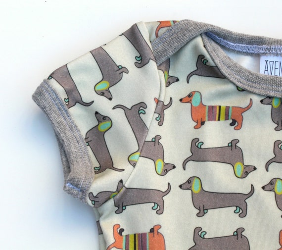 Items similar to wiener dog baby t shirt organic newborn tee dachshund clothes baby girl
