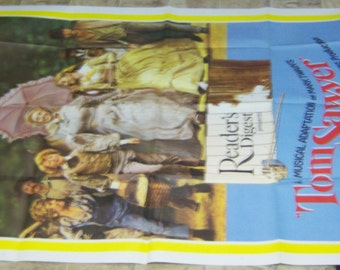 "Mint never displayed 1973 3 sheet 41"" X 81"" musical of Mark Twain's ""Tom Sawyer"""