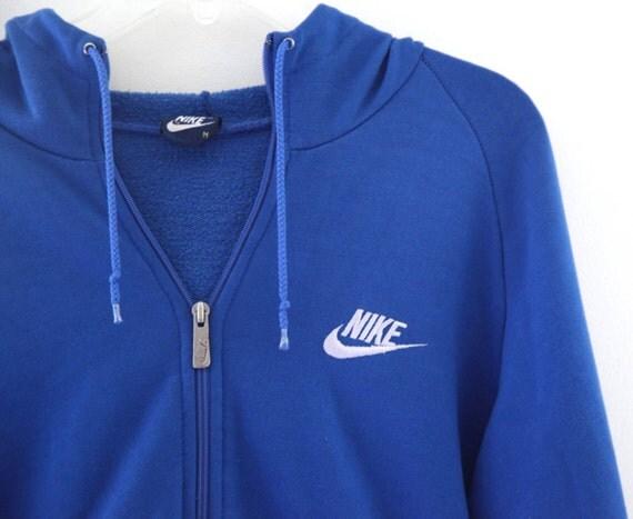 vintage 80s nike hoodie hooded sweatshirt blue mens m. Black Bedroom Furniture Sets. Home Design Ideas