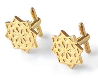 Alhambra Cufflinks Gold Nazari