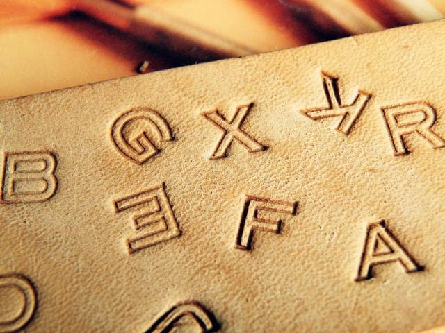 Full set alphabet leather carving tools by