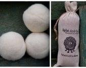 XL Wool Dryer Balls - Canadian Wool- Cream Dryer Balls