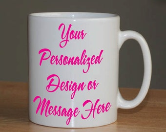 Custom Personalized Coffee Mug - Great Gifts for Co-Workers, Mother's, Father's, Weddings and Teachers,