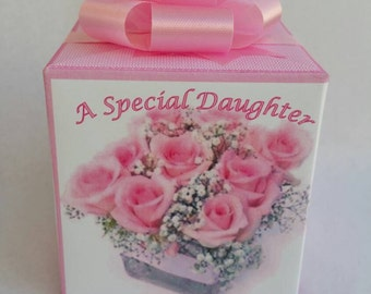 Daughter music box, wrapped as a gift