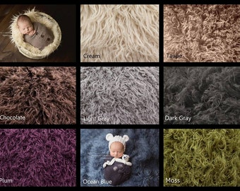 "LARGE (30""x36"") Curly Faux Fur, Newborn Photography Props, Curly Lama Fur, Props for Babies, Newborn Photo Props, Fur Fabric"