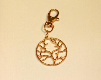 Gold Branch Keychain