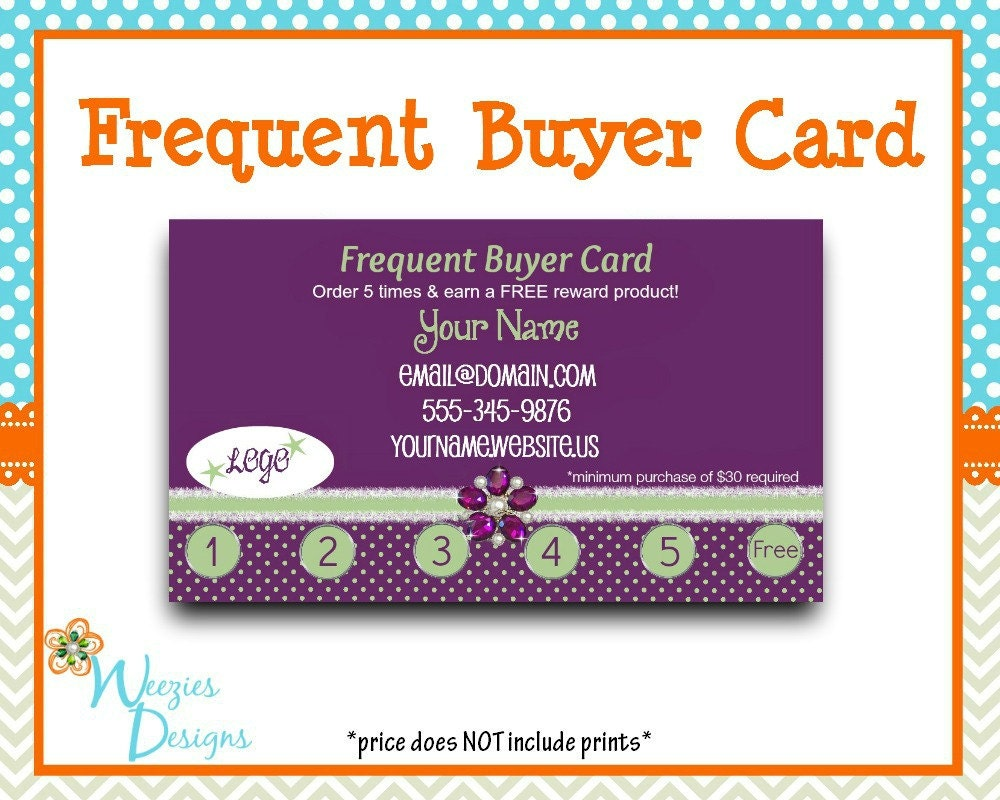 Frequent Buyer Card Business Card Direct Sales by