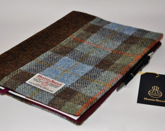 Harris Tweed A4 Notebook cover - Color Block (A4 notebook included)