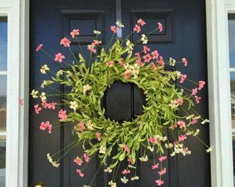 Mothers day wreath, spring wreath, spring decor, door wreath, hearth wreath